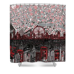London Skyline Abstract 6 Shower Curtain