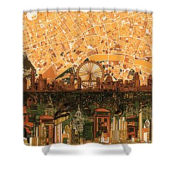 London Skyline Abstract 7 Shower Curtain
