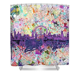 London Skyline Abstract Shower Curtain
