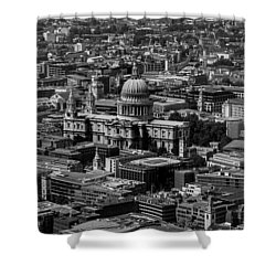 London Skyline Shower Curtain by Martin Newman