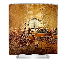 London Skyline Old Vintage  Shower Curtain