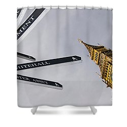 London Street Signs Shower Curtain by David Smith