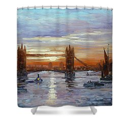 London Tower Bridge Shower Curtain