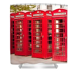 London's Red Phone Boxes Shower Curtain
