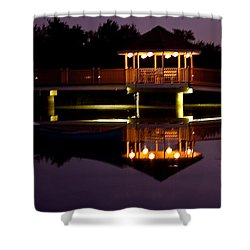 Shower Curtain featuring the photograph Lone Canoe by Brian Williamson