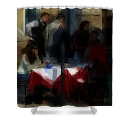 Lone Diner Shower Curtain