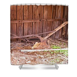 Shower Curtain featuring the photograph Lone Plow by Nick Kirby