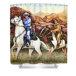 Lone Ranger And Tonto Ride Again Shower Curtain