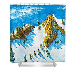 Lone Tree 1 Shower Curtain