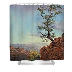 Lone Tree Struggle Shower Curtain
