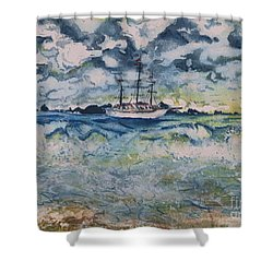 Lone Vessel  Shower Curtain