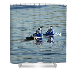 Lone Wakeboard Shower Curtain