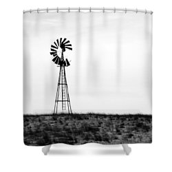 Shower Curtain featuring the photograph Lone Windmill by Cathy Anderson