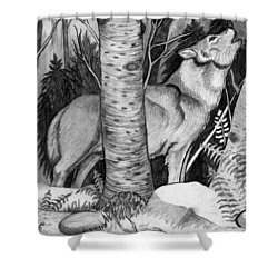 Lone Wolf Shower Curtain