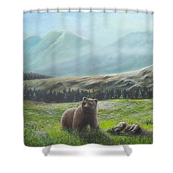 Lonely Bear Shower Curtain