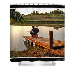 Lonely Guitarist Shower Curtain