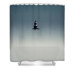 Lonely Lighthouse  Shower Curtain by Karol Livote