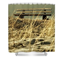 Lonely Bench Shower Curtain by Mike Santis