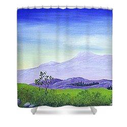 Lonely Mountain Shower Curtain by Anastasiya Malakhova