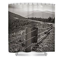 Lonely Mountain Road Shower Curtain by Edward Fielding
