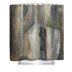 'lonely Road Without Him' Shower Curtain