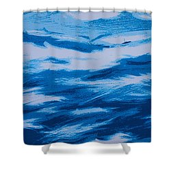 Lonely Sailboat Heading Home Shower Curtain by Robert Margetts