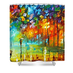 Lonely Stroll 3 Shower Curtain by Leonid Afremov
