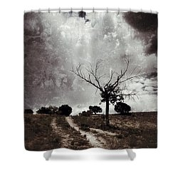 Lonely Tree Shower Curtain by Mark David Gerson
