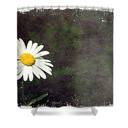 Lonesome Daisy Shower Curtain