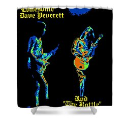 Lonesome Dave And Bottle Rod Shower Curtain