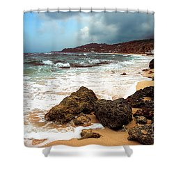 Long Bay - A Place To Remember Shower Curtain by Hannes Cmarits