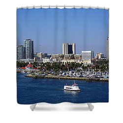 Shower Curtain featuring the photograph Long Beach by Athala Carole Bruckner