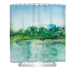 Long Beach Convention Center Arena Shower Curtain