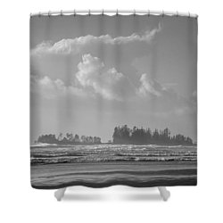 Long Beach Landscape  Shower Curtain