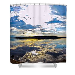 Shower Curtain featuring the photograph Long Brandermill Sunset by Jean Haynes