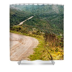 Long Country Road Shower Curtain by Jess Kraft