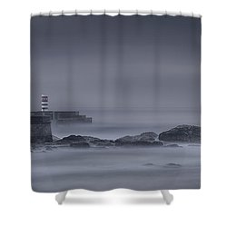 Long Exposure Foz Porto Shower Curtain