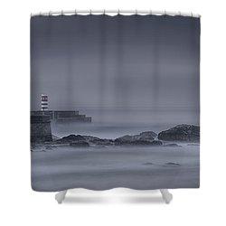 Long Exposure Foz Porto Shower Curtain