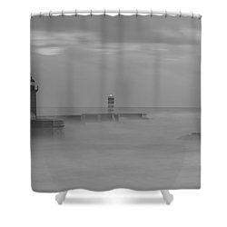 Long Exposure In Oporto In Bad Weather Shower Curtain
