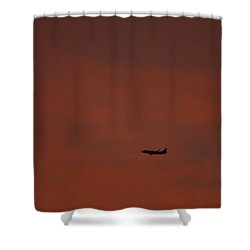 Long Hard Goodbye Shower Curtain by Donna Blackhall