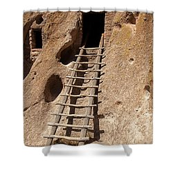 Long House Front Door Bandelier National Monument Shower Curtain