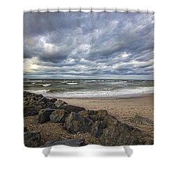 Long Island Sound Whitecaps Shower Curtain