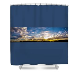 Shower Curtain featuring the photograph Long Van Gogh Sunset by Jean Haynes