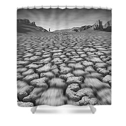 Long Walk On A Hot Day Shower Curtain by Mike McGlothlen