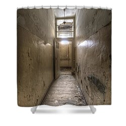 Long Way Shower Curtain by Nathan Wright