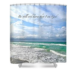 Be Still Shower Curtain by Margie Amberge