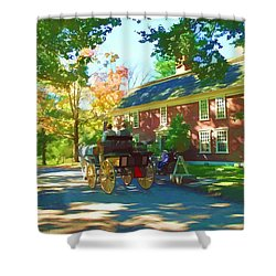 Longfellows Wayside Inn Shower Curtain by Barbara McDevitt