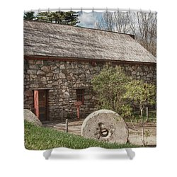 Longfellow's Wayside Inn Grist Mill Shower Curtain by Jeff Folger