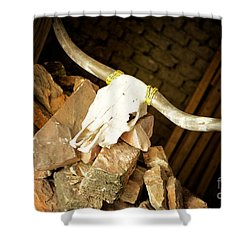 Shower Curtain featuring the photograph Longhorn by Erika Weber