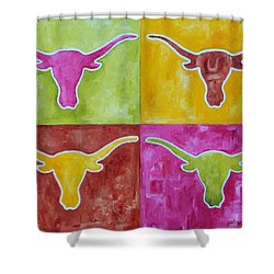 Longhorn Pop Art Shower Curtain